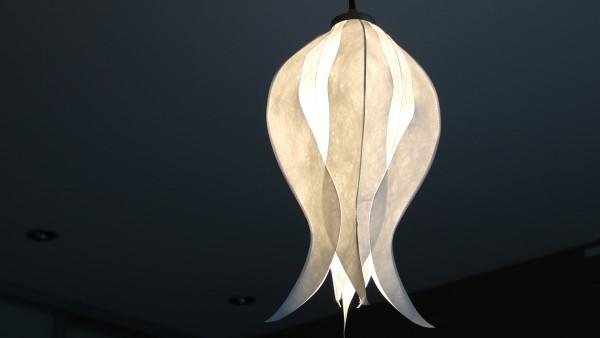 Pendelleuchte Tulpe Elegant Lady (small) mit Textilkabel
