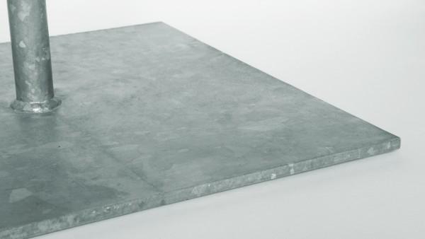 Stahlplatte mit Rohrhülse verzinkt